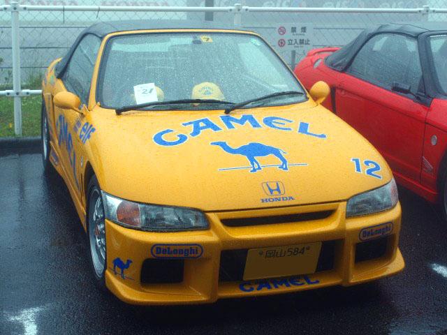 �@セナ �Aらくだ君 �BF1のキャメルロータスのレプリカ セナ・中嶋コンビが乗ってた �C初参加