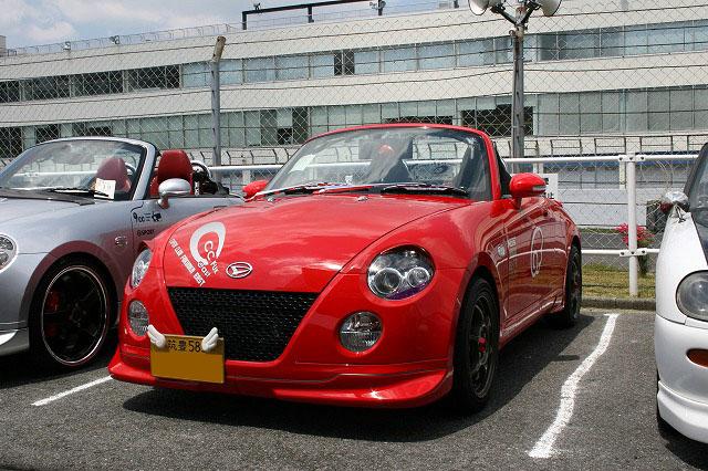�@福岡のタカ �Aサマンサ号 �Bサクラママフラー コスミックガレージ リア スポイラー その他色々 �C初参加
